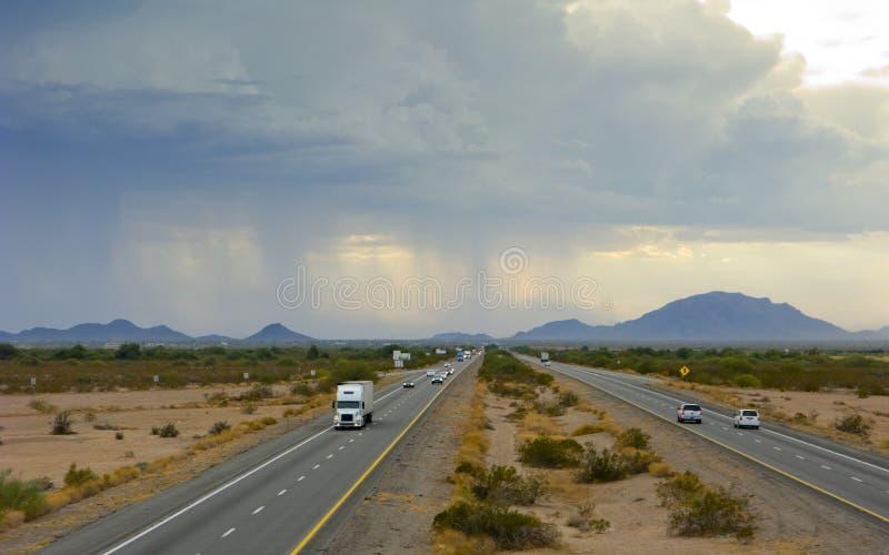 Arizona-Wüsten-Staubsturm stockfotografie