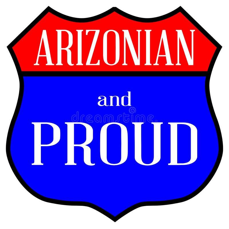 Arizonian et fier illustration libre de droits