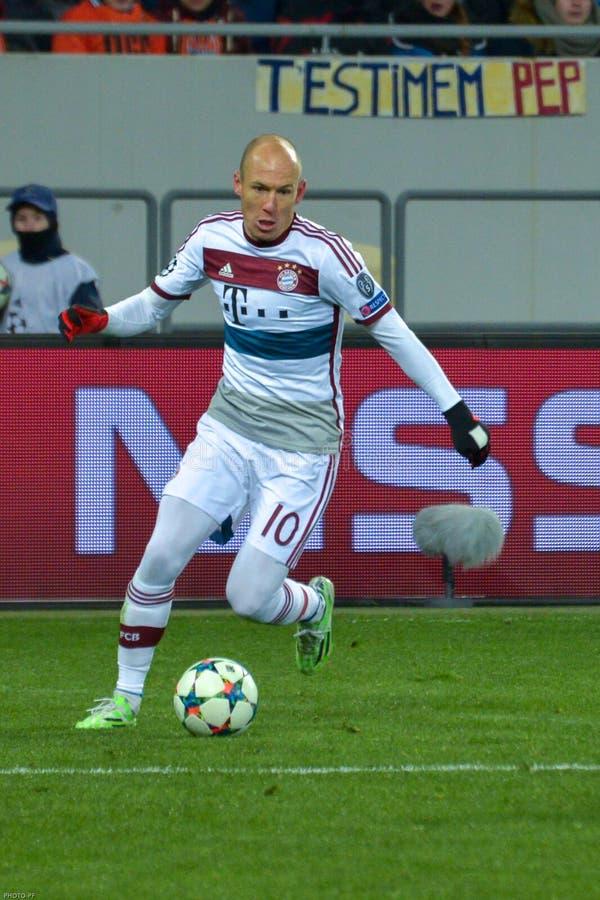 Arjen Robben Harmonia entre FC Shakhtar contra FC Baviera Champions League imagens de stock royalty free