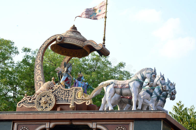 Arjuna и Krishna стоковая фотография rf