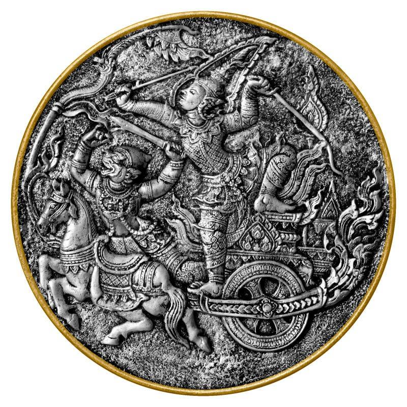Arjuna e Hanuman fotografia de stock