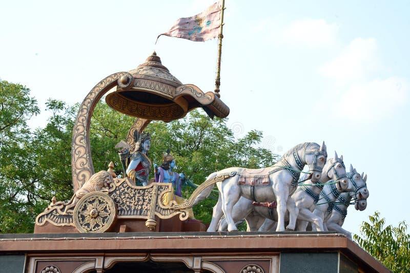 Arjuna och Krishna royaltyfri fotografi