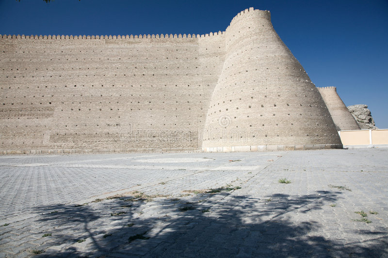 Ark. Fortress Ark from 12th Century in the city of Buchara, Uzbekistan stock photo