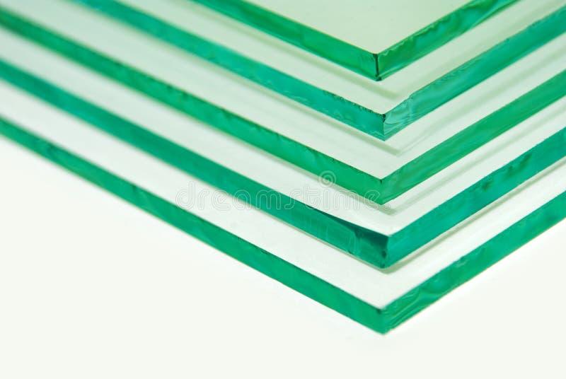 Ark av för flöteexponeringsglas för fabrik det tillverkning blandade klara snittet för paneler som ska storleksanpassas royaltyfri bild