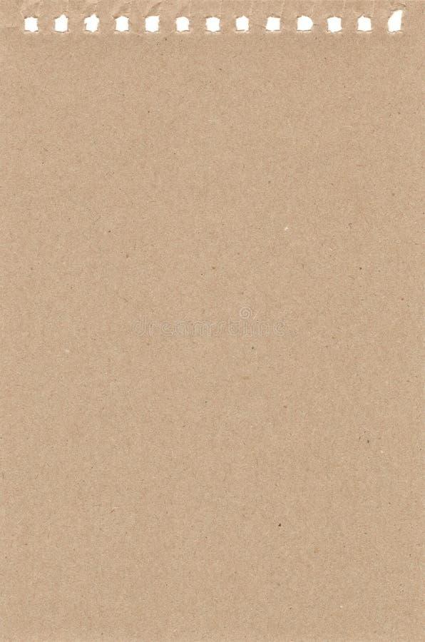 Ark av papper från en anteckningsbok vektor illustrationer