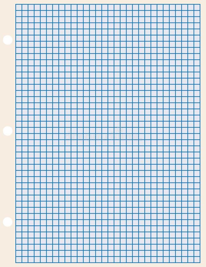 Ark av papper i en bur vektor illustrationer
