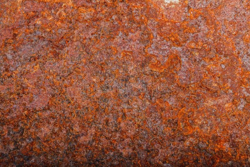 Ark av rostig metall oxiderad bakgrund royaltyfri bild
