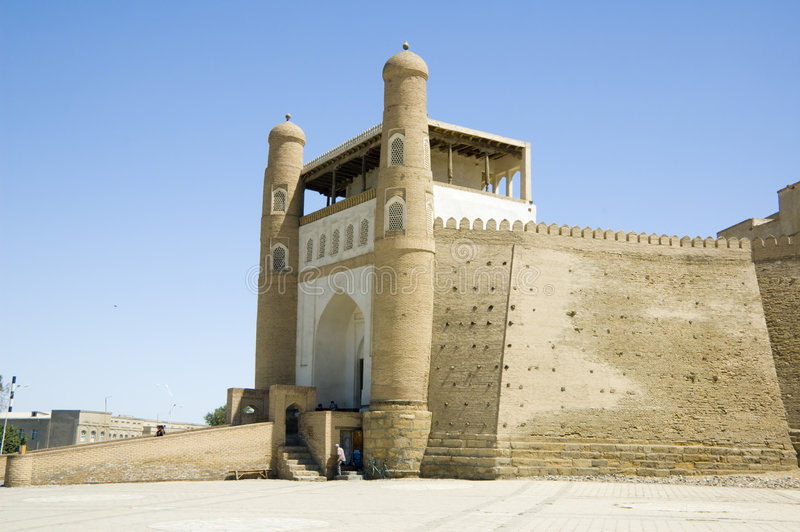 Download The Ark of Bukhara stock photo. Image of central, minaret - 8020770