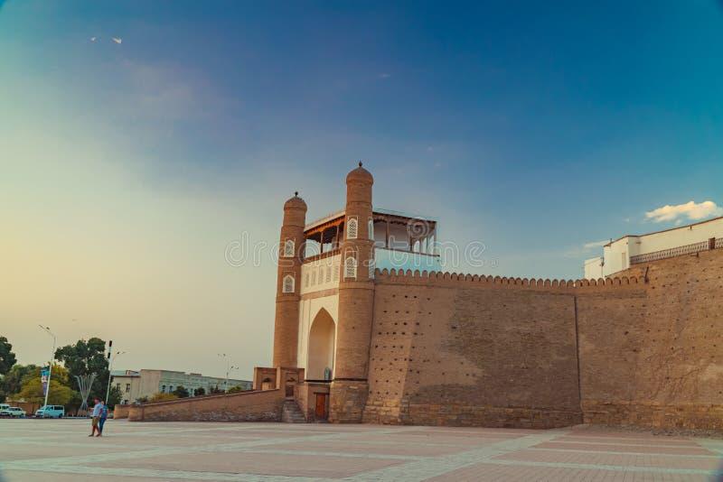 Ark in Bukhara. Ancient beautiful fortress Ark in Bukhara, Uzbekistan royalty free stock image