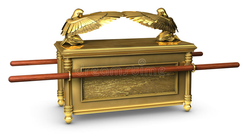 Ark of the Covenant. Legendary Ark of the Covenant from the Bible stock photos