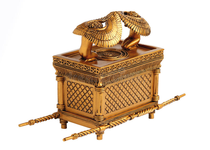 Ark of the Covenant. The best known item in the Tabernacle, renowned for its mysterious powers royalty free stock image