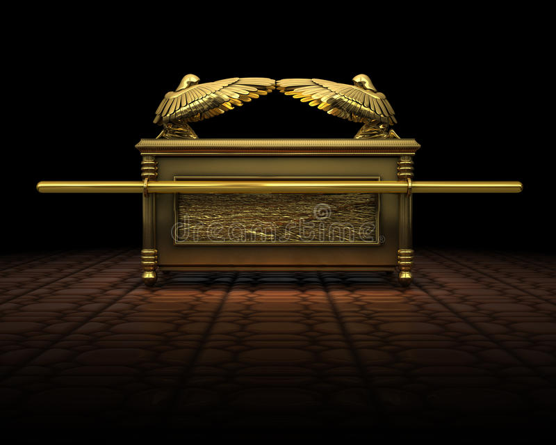 Ark of the Covenant. 3d Rendering of the ark of the covnant as descriped in the bible royalty free illustration