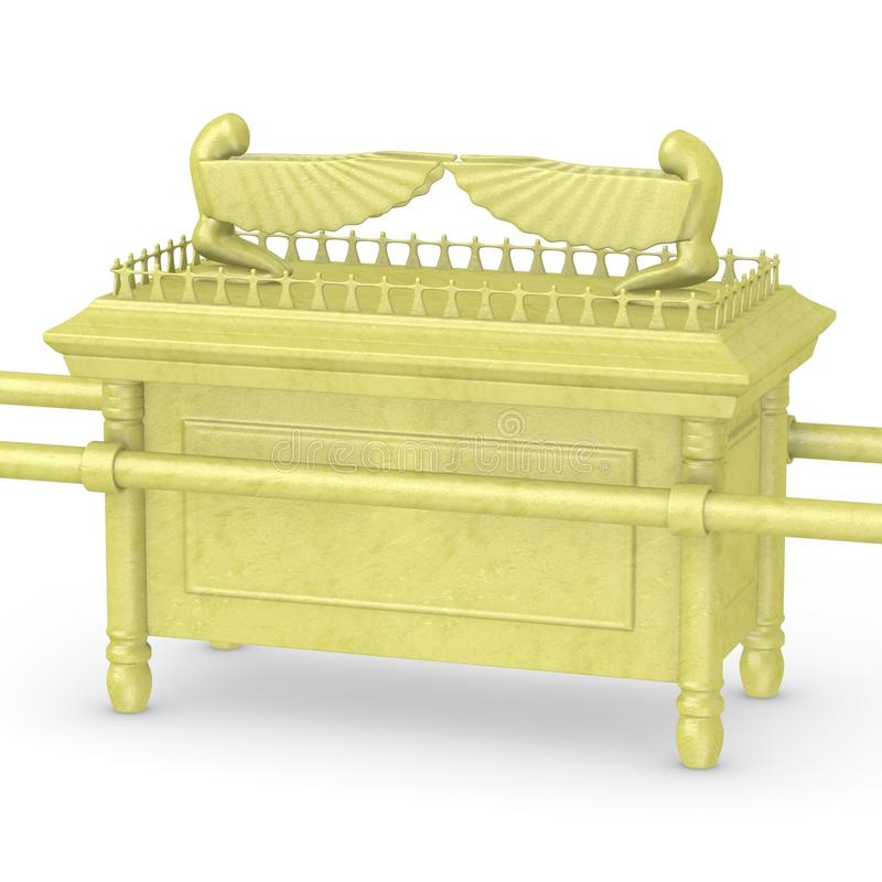 Ark of the covenant (from gold). 3d render of ark of the covenant (from gold vector illustration