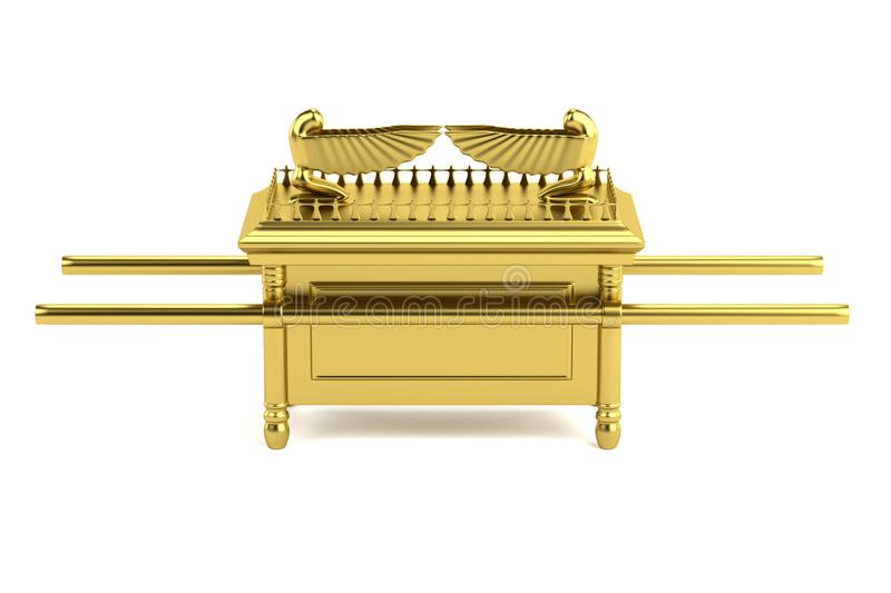 Ark of the covenant. Realistic 3d render of ark of the covenant stock illustration