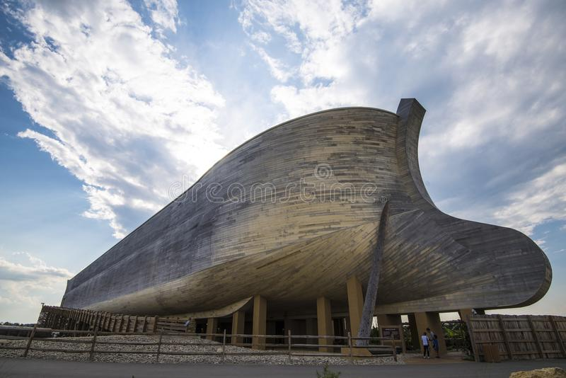 Life size Noahs ark. Ark Encounter is a Christian evangelical and fundamentalist theme park that opened in Grant County, Kentucky on July 7, 2016.[2][3] The royalty free stock images