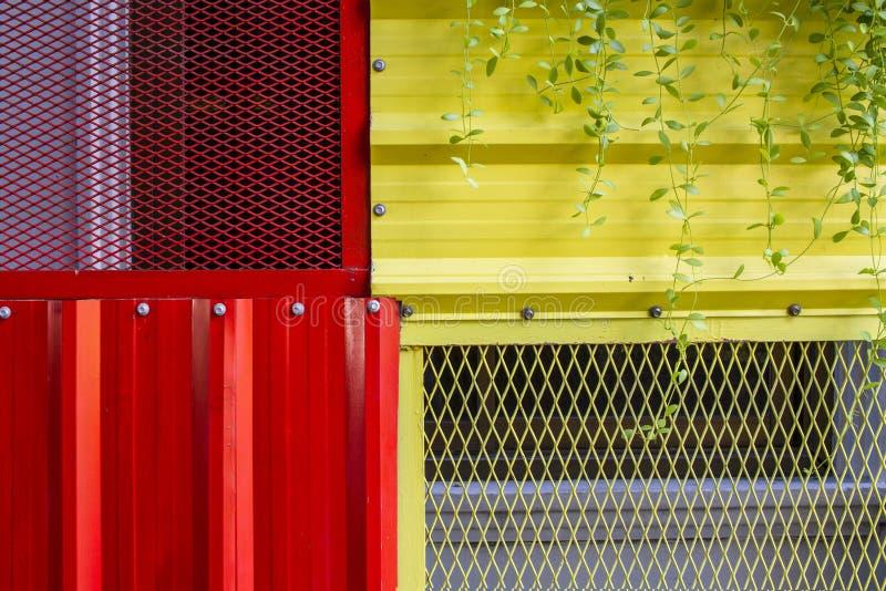 Ark för bakgrundsväggzink arkivfoton
