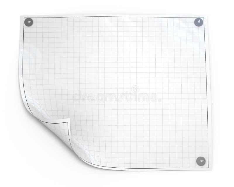 ark för blankt papper vektor illustrationer