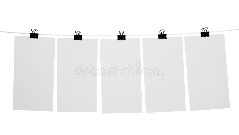 ark för blankt papper royaltyfri bild