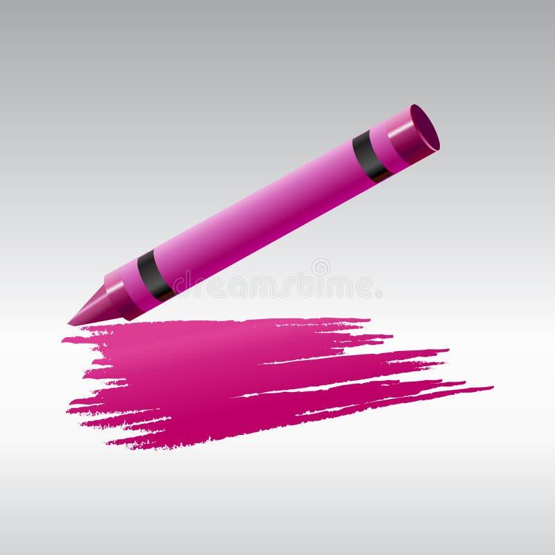ark för crayonteckningspapper stock illustrationer