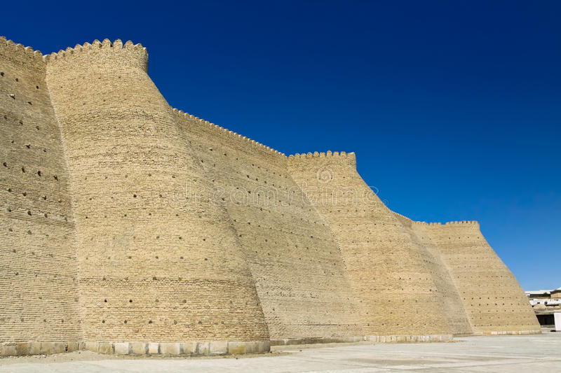 The Ark fortress in Bukhara, Uzbekistan royalty free stock images