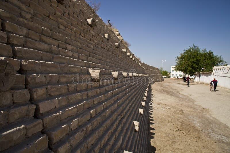 The Ark Fortress wall in Bukhara, Uzbekistan royalty free stock photography