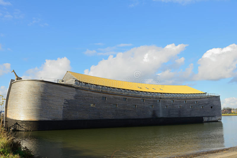 The ark of noah in dordrecht netherlands. Noah's ark in real size build in the netherlands royalty free stock image