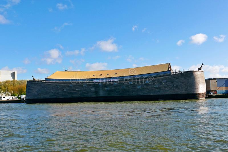 The ark of noah in dordrecht netherlands. Noah`s ark in real size build in the netherlands stock photo