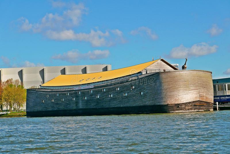 The ark of noah in dordrecht netherlands. Noah`s ark in real size build in the netherlands royalty free stock photos