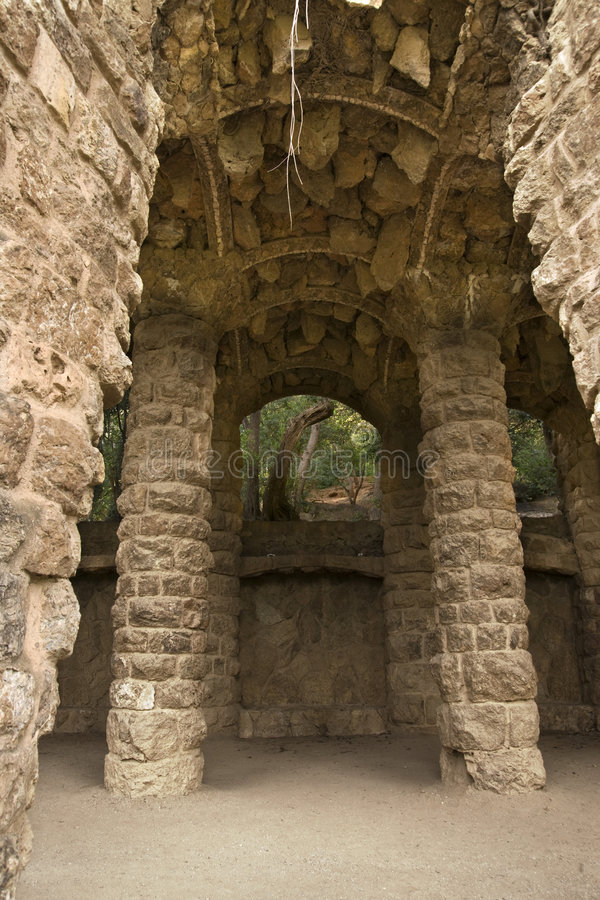 Download Ark in park Guel stock photo. Image of pillar, green, barcelona - 5941692