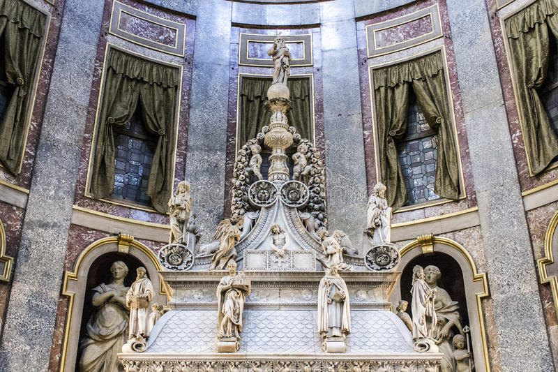 Ark of Saint Dominic. The Ark of Saint Dominic, a Renaissance sarcophagus containing his remains made by Nicola Pisano, Niccolo dell Arca and Michelangelo royalty free stock image