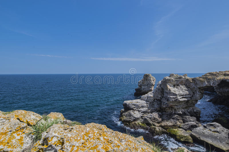 Ark of Tyulenovo. Tyulenovo is famous for its unique beach and caves, fresh air, clear seawater and its unique nature. There is not everyday life and the noise royalty free stock images