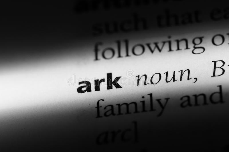Ark. Word in a dictionary.  concept royalty free stock photos
