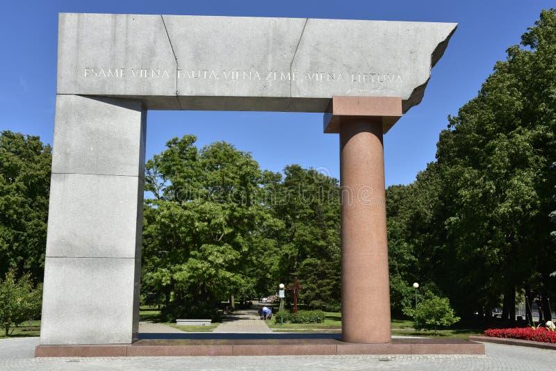 Arka, monumento para Lituânia unido em Klaipeda, Europa fotos de stock royalty free
