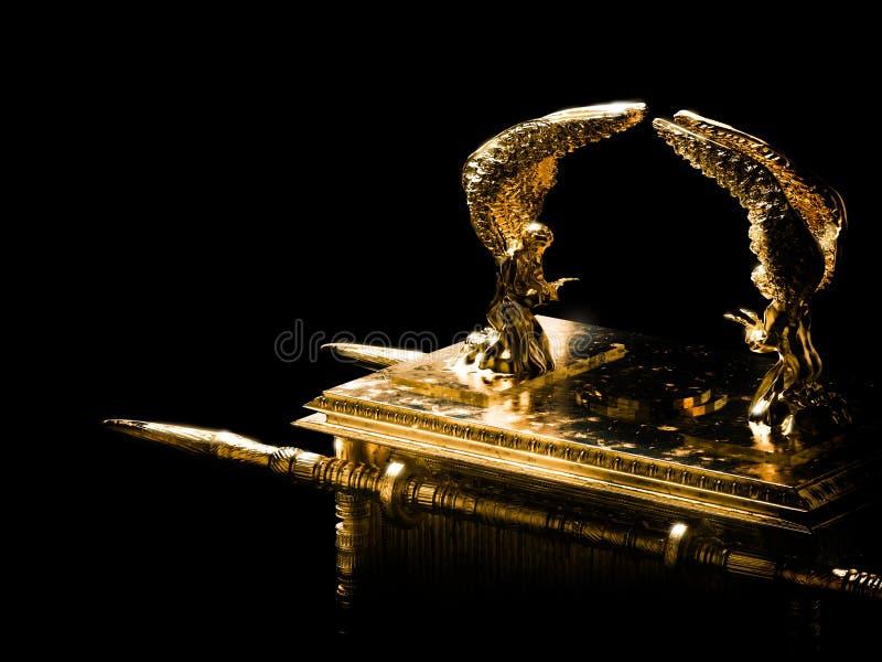 Arka umowa na ciemnej tło/3D ilustracji royalty ilustracja