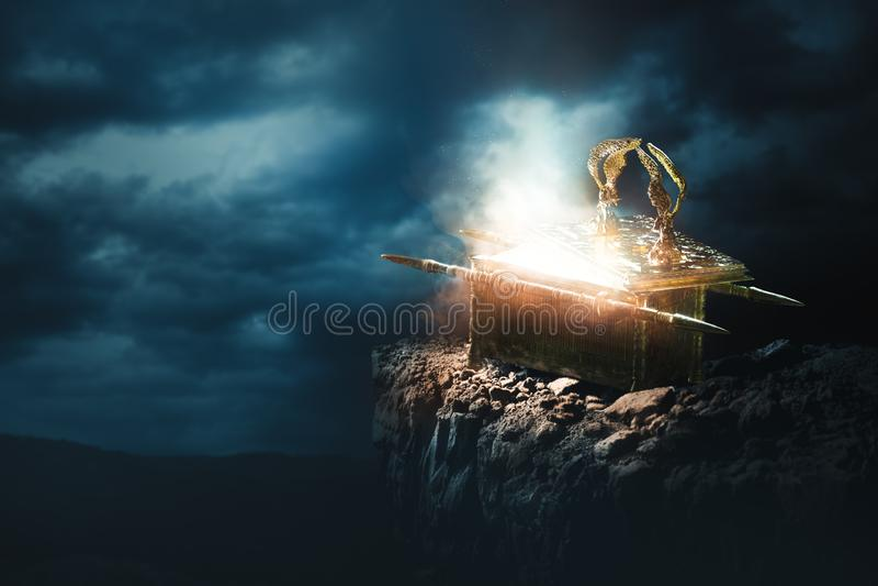Arka umowa przy wierzchołkiem góra/3D rendering ilustracji