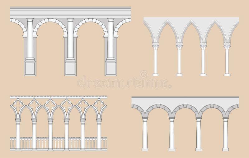 arkad arkady renaissance rzymski venetian royalty ilustracja