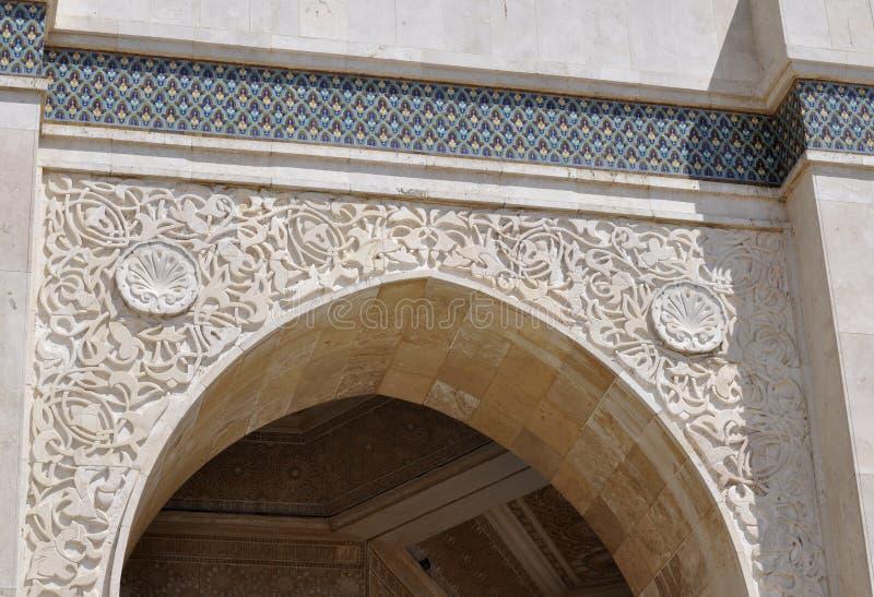 Arkada Hassan II meczet, Casablanca obraz stock