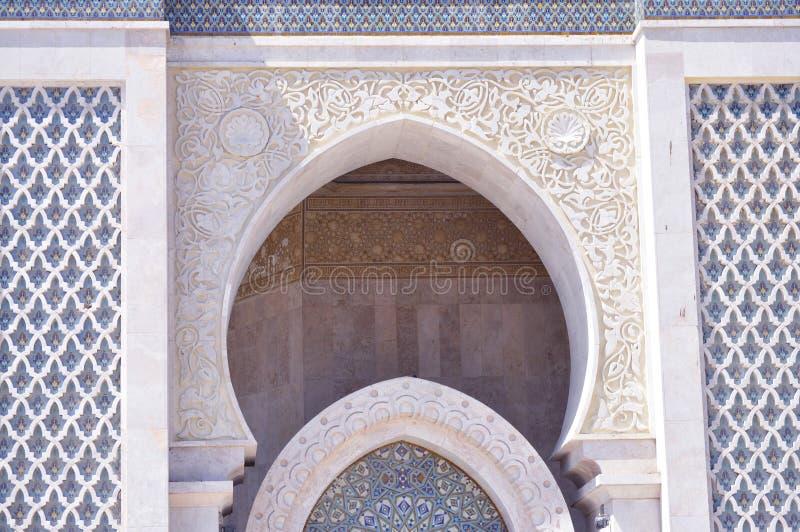 Arkada projekt hassanII meczet, Casablanca obraz stock
