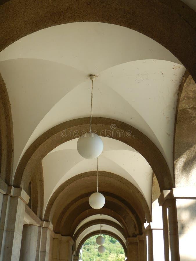 Arkada sufit dziejowy budynek zdjęcie stock