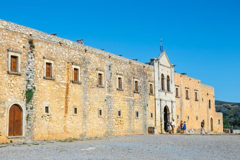 Arkadi修道院位于在Rethymnon,克利特,希腊东南部  库存照片