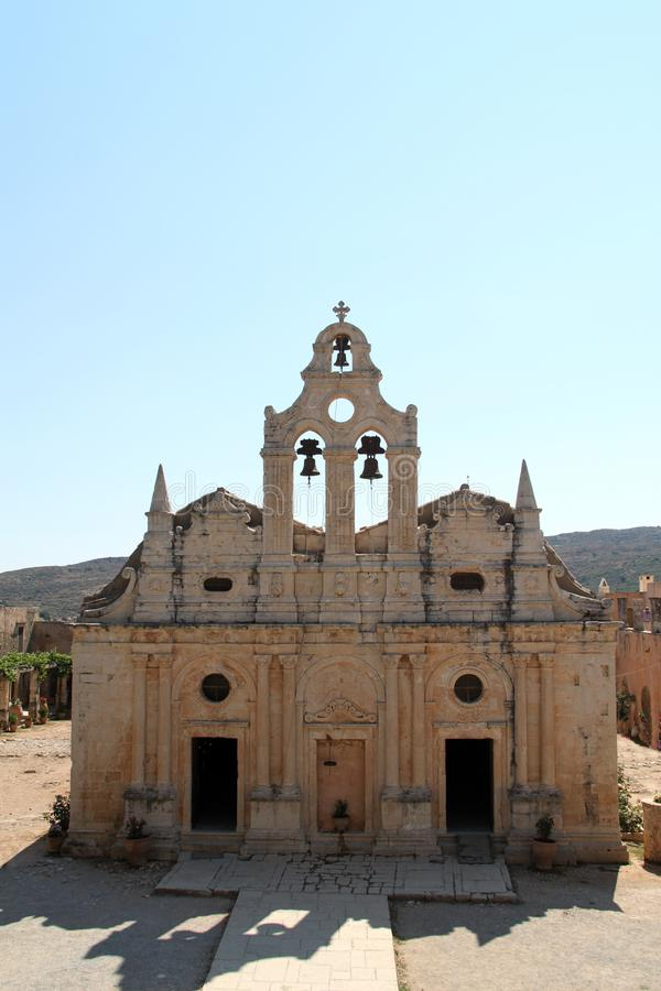 Arkadi修道院,克利特 免版税图库摄影