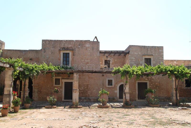 Arkadi修道院,克利特 库存照片