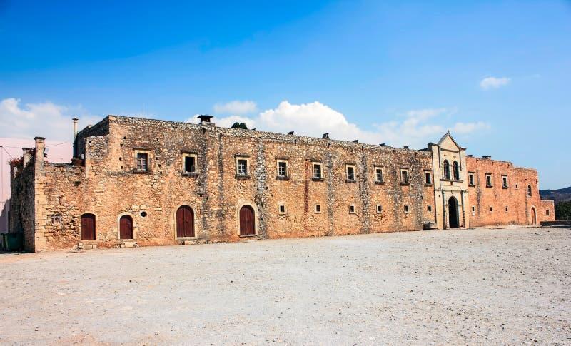 Arkadi kloster crete Grekland royaltyfri foto