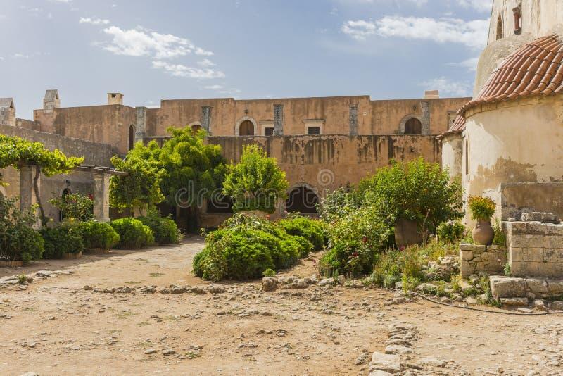 Arkadi Kloster kreta stockbild