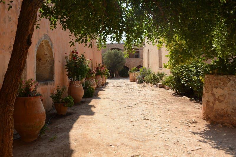 Arkadi Monastery, Crete Moni Arkadiou! royalty free stock images