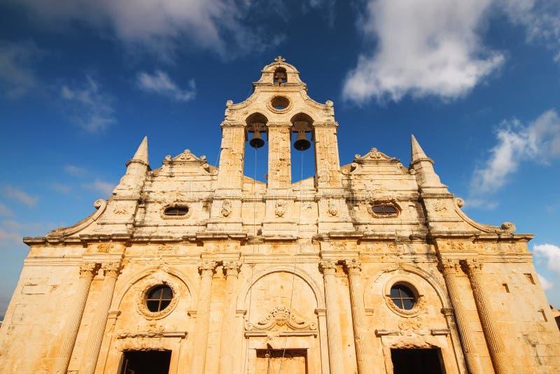 Arkadi Monastery Moni Arkadhiou op het eiland van Kreta royalty-vrije stock afbeelding