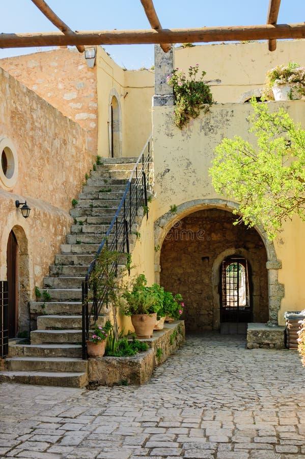 Arkadi monastery side entrance royalty free stock photo