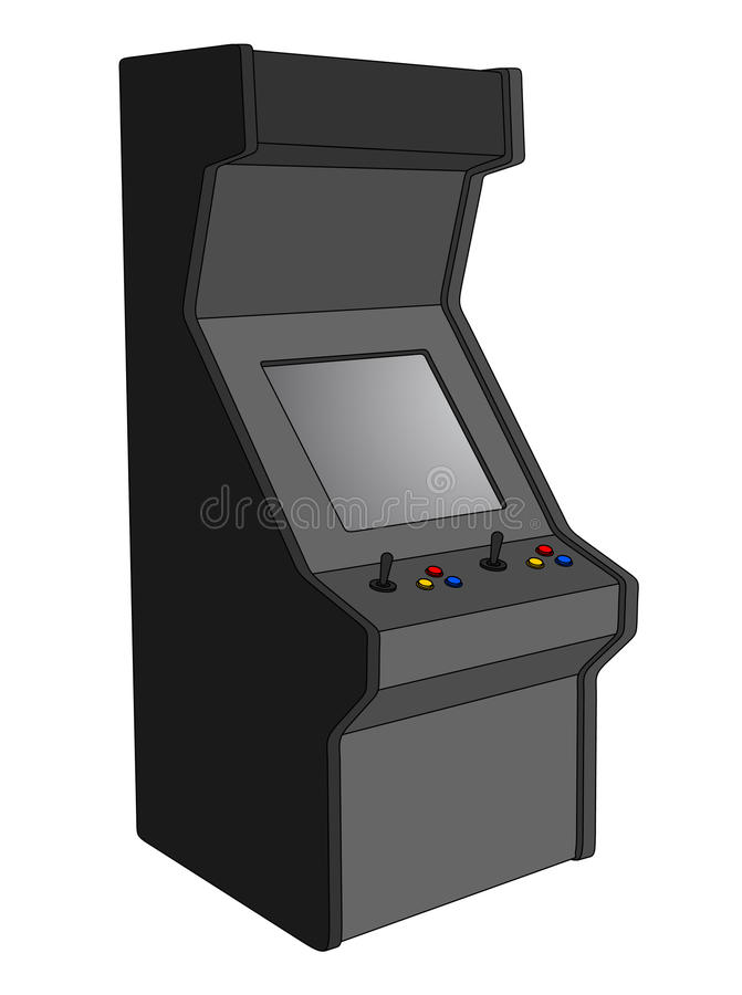 arkady retro maszynowy royalty ilustracja