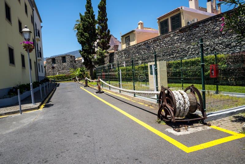 Arkana kabel blisko fortu Sao Tiago w Funchal maderze fotografia royalty free