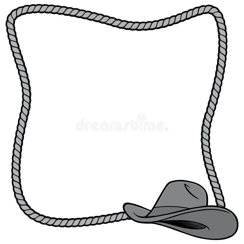 Arkana kowbojskiego kapeluszu i ramy ilustracja ilustracji
